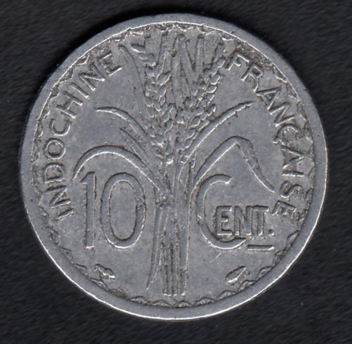 French Indo China 10 centimes 1945a KM-28.1 ( VF )