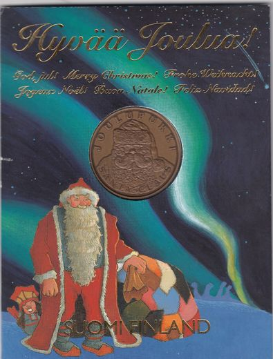Merry Christmas - Santa Claus medal in blister