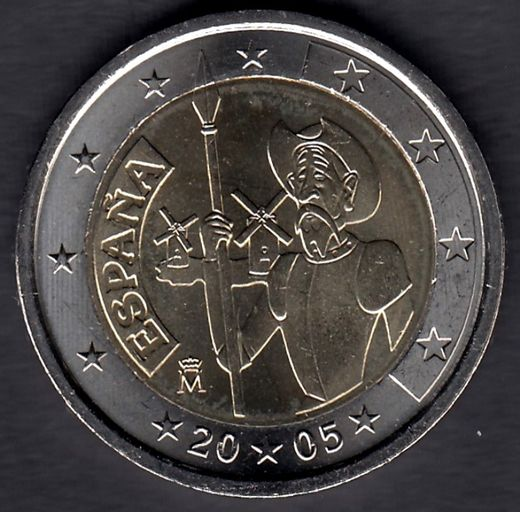 SPAIN 2 euro 2005 Don Quijote ( UNC )