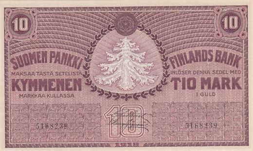 10 Markkaa 1918 5168239 Type 2 ( UNC ) FIE - His