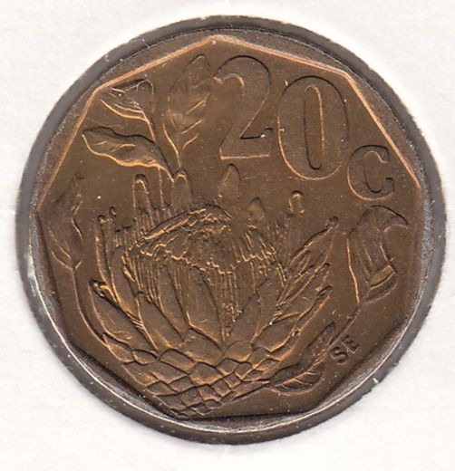South-Africa 20 cents 1995 KM-136 ( AUnc )