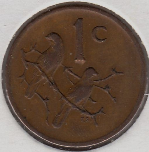 South-Africa 1 cent 1977 KM-82 ( VF )