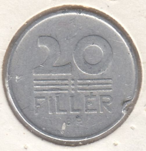 Hungary 20 Filler 1964 KM-550 ( VF )