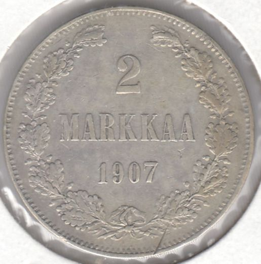 2 markkaa 1907 ( VF ) edge defect