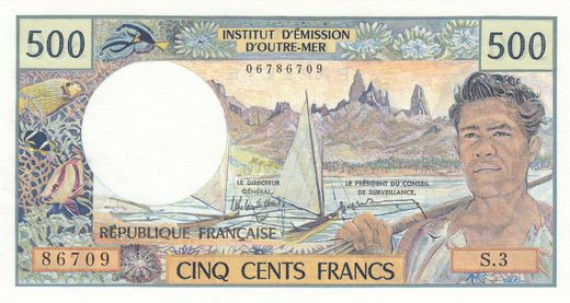 Tahiti 500 Francs ND(1985) P-25d ( UNC )