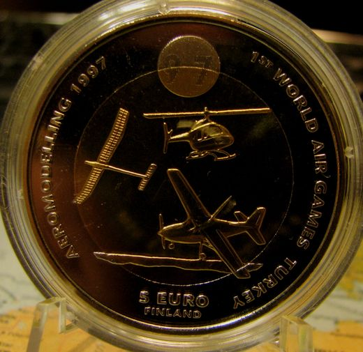 5 Euro 1997 FAI World Air Games  Aeromodelling ( BU ) In case