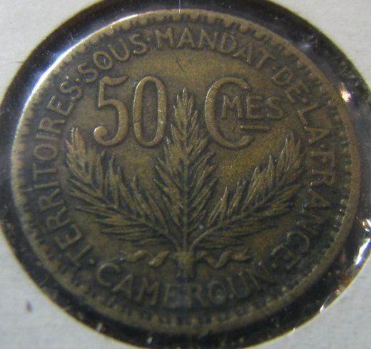 Cameroon 50 Centimes 1925 KM-1 ( VF )