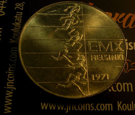 10 Markkaa 1971 European athletic champions in Helsinki ( aUNC ) Variation S without H