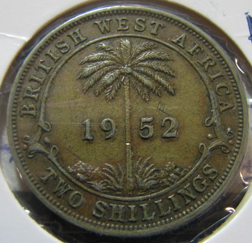 British West Africa 2 Shilling 1952H KM-29 ( VF )