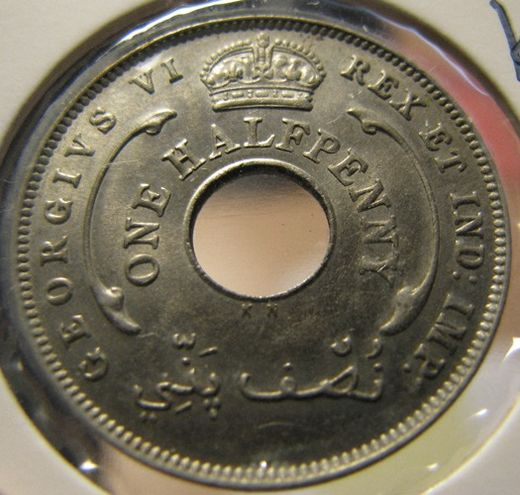 British West Africa 1/2 Penny 1937 KM-18 ( UNC )
