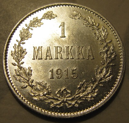 1 Markka 1915 ( AUnc ) hairlined