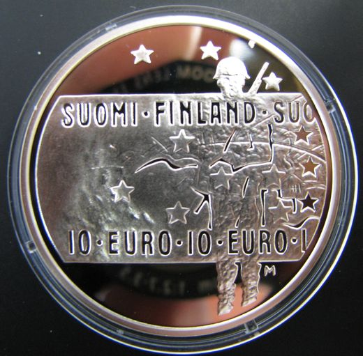 10 euro 2005 Unknown Soldier and Finish film art ( BU ) In case