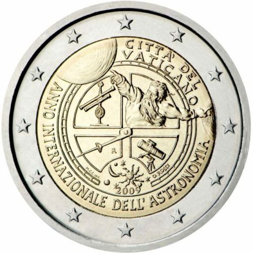 Vatican City 2 euro 2009cc ( UNC ) Astronomy In Blister