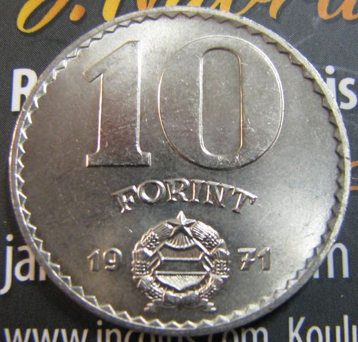 Hungary 10 Forint 1971 Ag ( UNC )