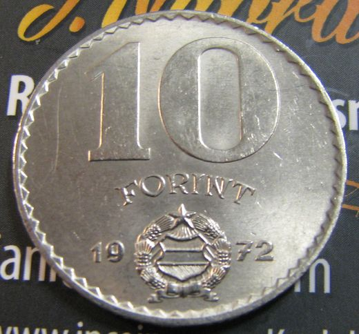 Hungary 10 Forint 1972 Ag ( UNC )