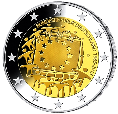 Germany 2 euro 2015 European flag ( UNC )