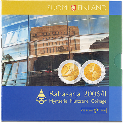 Finland Coin set 2006 II Icl. 2€ 2006 Centennial of universal suffrage ( BU )