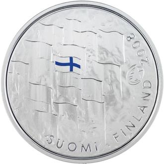 0 euro 2008  90 th anniversary of the Finnish flag ( BU ) In case