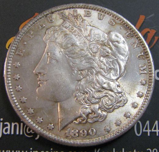 USA 1 Dollar 1890 KM-110 ( Aunc ) MORGAN DOLLAR